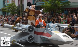"""""""Legends of the Force"""" Motorcade and Celebrity Welcome, Jedi Mickey leads the parade."""