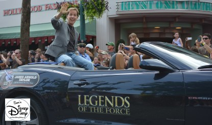 """""""Legends of the Force"""" Motorcade and Celebrity Welcome, James Arnold Taylor - Celebrity Host for 2013"""