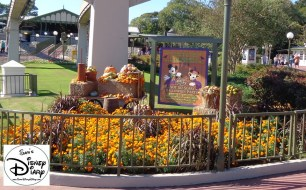Magic Kingdom Train Station Ready for the Halloween Party