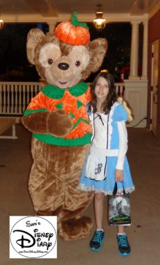 Duffy in Costume is one of the many characters available during the party