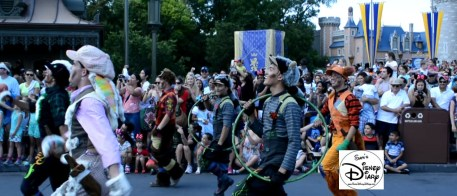 The Lost Boys lead the Peter Pan Float.