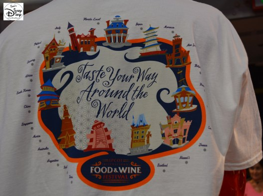 Epcot International Food and Wine Festival 2013 - 2013 Taste Your Way Around the World T-Shirt