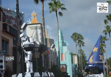 Storm Troopers great guests as they enter Hollywood Studios