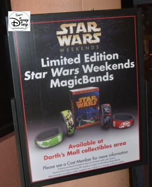 Limited Edition Star Wars Weekend Magic Bands, introduced during the 5th weekend in 2014