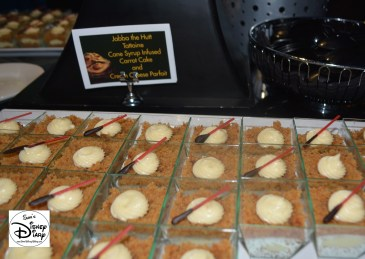"""Star Wars Weekend """"Fell The Force"""" Premium Package - """"Jabba the Hutt"""" - Dantooine Cane Syrup Infused Carrot Cake and Cream Cheese Parfait with Light Saber"""