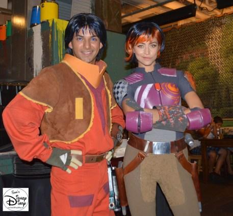 Star Wars Weekend 2015 Weekend 1 - Star Wars Rebels - Sabine Wren and Ezra Bridger hang out in the Rebel Lounge
