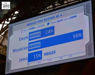 #SWW2015 crowds participated in social media surveys while waiting for the show...