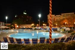 Walt Disney World Boardwalk Luna Park Pool at Night