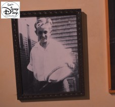 "That's a yound Walt Disney hanging on the way ""Drawn to Animation"" theater - Great Detail"