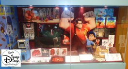 The Animation Gallery inside the Art of Animation Building changed as the latest feature was released... Wreck-it Ralph features here