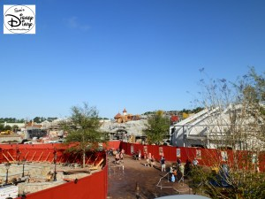 SamsDisneyDiary Episode #10 - New Fantasyland Phase #1- The View from to lift hill of the recently opened Barn Stormer