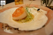 Victoria and Albert's: Queen Victoria Room: Course #4: Fennel Pollen Crusted Diver Scallop in a Salt Bowl