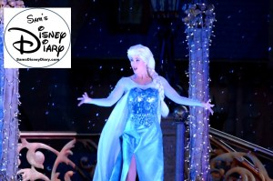 "Sams Disney Diary #65 - Elsa in the process of freezing the castle - notice the ""snow"" added during the 2015 hub re construction - now it snows in the hub and main street."
