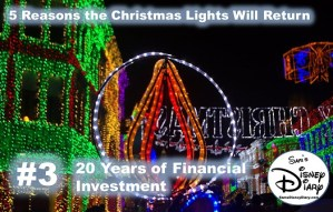 Why the Christmas Lights will be back at Hollywood Studios Reason #3: 20 years of Financial Investment
