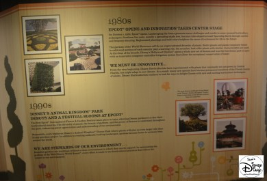 Epcot Flower and Garden Festival - Festival Center included the history of the festival