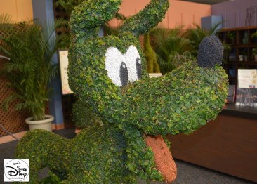 Epcot Flower and Garden Festival - Pluto Topiary in the Festival Center