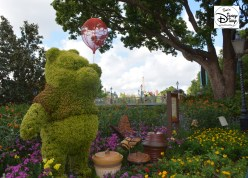 Epcot Flower and Garden Festival - Winnie the pooh and the tea garden in United Kingdom