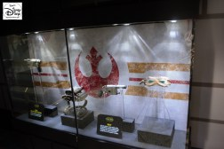 Lots of cool props on display in Star Wars Launch Bay