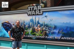 Star Wars Weekends 2016 - Concept Art for Star Wars on the wall in front of Streets of America