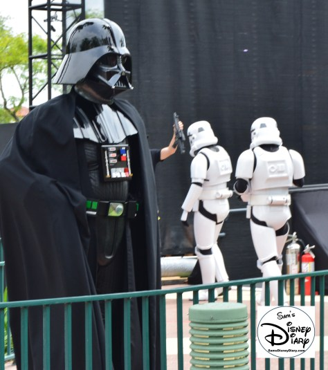 """Star Wars Weekends 2016 - Vader Backstage prep for """"A Galaxy Far, Far Away"""" stage show."""