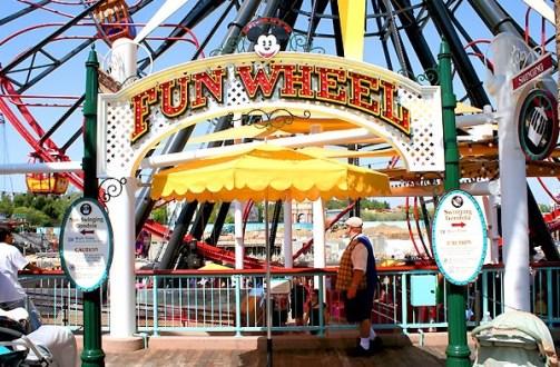 Mickey's Fun Wheel entrance at California Adventure Park
