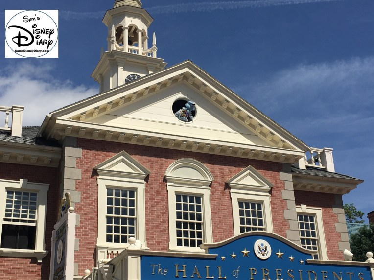 SamsDisneyDiary Episode #75 - The Muppets present Great Moments in American History. Sam the Eagle high above The Hall of Presidents