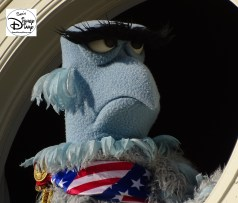 SamsDisneyDiary Episode #75 - The Muppets present Great Moments in American History. Sam the Eagle from high above the Hall of Presidents