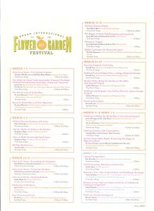 Epcot Flower and Garden Festival 2017 - Schedule Page 1