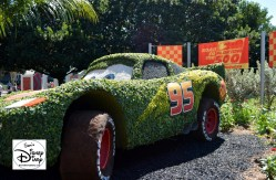 The 2017 Epcot International Flower and Garden Festival - Road to the Florida 500 Lightning McQueen