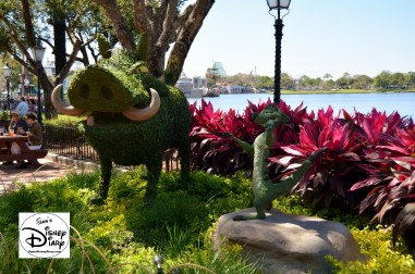 The 2017 Epcot International Flower and Garden Festival - Timon and Pumbaa
