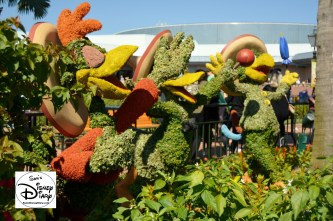 The 2017 Epcot International Flower and Garden Festival - The Three Caballeros