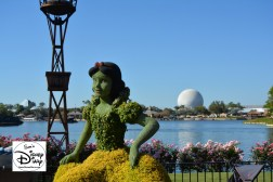 The 2017 Epcot International Flower and Garden Festival - Kidcot fun stops, Snow white back again