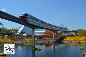 The 2017 Epcot International Flower and Garden Festival - Just can't help myself when a monorail goes by