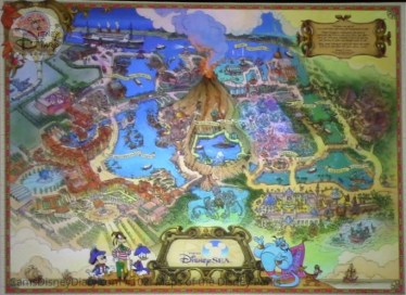 Tokyo Disney Sea Fun Map (2001) - From D23 Expo 2017 Maps of the Disney Parks and the book