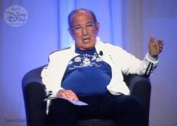 Marty Sklar paticipating in the panel discuession - From D23 Expo 2017 Maps of the Disney Parks and the book