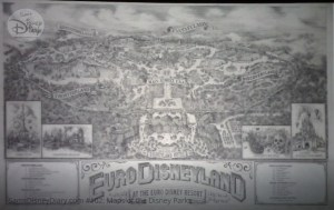 Euro Disneyland Park (Now Disneyland Paris Park) Fun Map - From D23 Expo 2017 Maps of the Disney Parks and the book