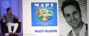 Matt McKim, son for Disney Legend Sam McKim participated as a panelist during the D23 Expo Maps of the Disney Parks Brekout