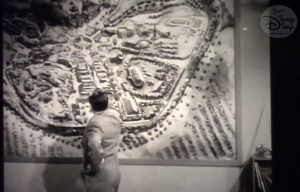 Sams Disney Diary #102: Maps of the Disney Parks - D23 2017 Breakout Session and Panel Discussion - Walt using the original Herb Ryman Disneyland Map on this weekly Disneyland TV Show
