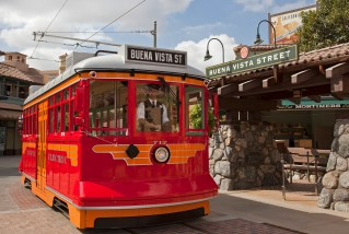 RED CAR TROLLEY — Inspired by the transportation system that once served Southern California, the Red Car Trolley at Disney California Adventure Park in Anaheim, Calif. will transport guests along Buena Vista Street and through Hollywood Land. For editorial news use only. (Paul Hiffmeyer/Disneyland Resort)
