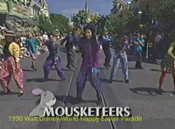 1990 Walt Disney World Happy Easter Parade - The Mousketeers on Main Street