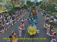1990 Walt Disney World Happy Easter Parade - The gang from Little Mermaid won the Oscar for Best Song last year, a perfect reason to celebrate with 'Under the Sea""