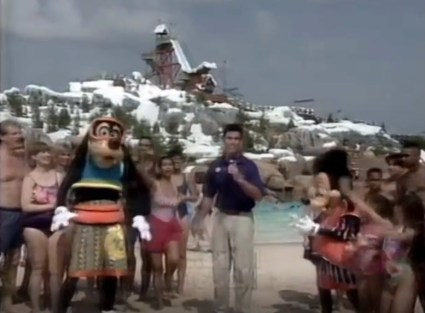 1995 Walt Disney World Easter Day Parade Goofy and Max at the new Blizzard beach