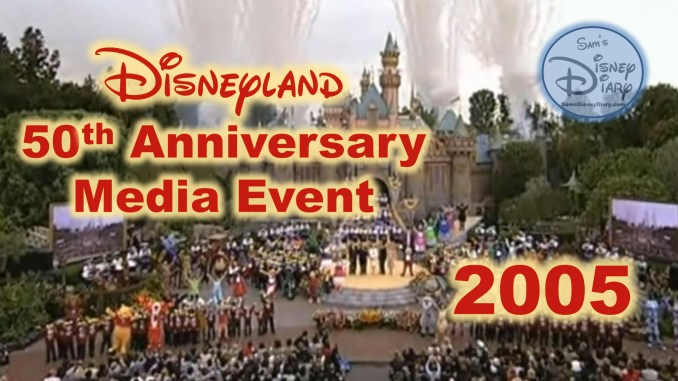 Disneyland 50th Anniversary Media Event (May 4, 2005) Happiest homecoming on Earth