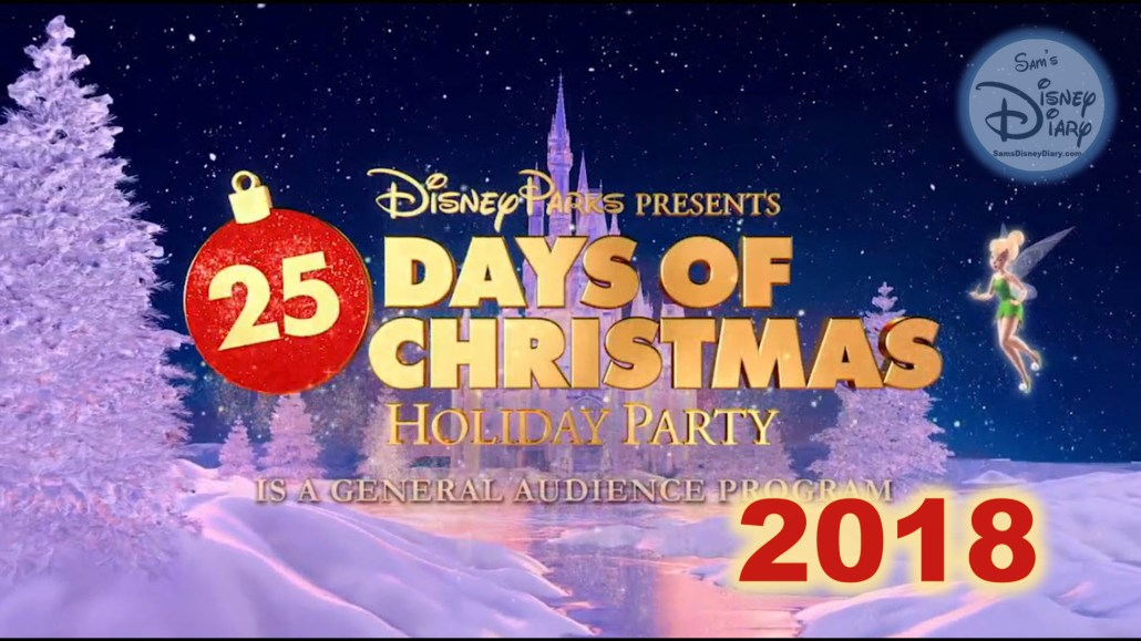 Disney Parks 25 Days of Christmas Holiday Party