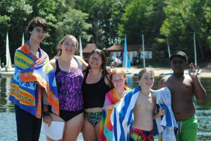 Teaching some youngins how to swim