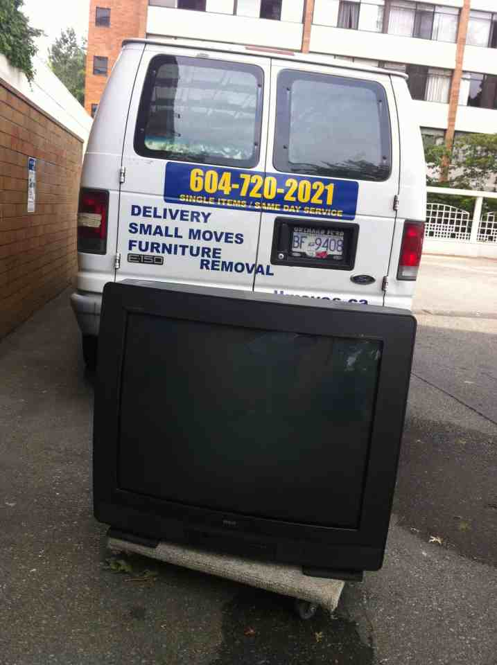 Television Removal-Big Screen TV's - TV Removal and Recycling in Vancouver