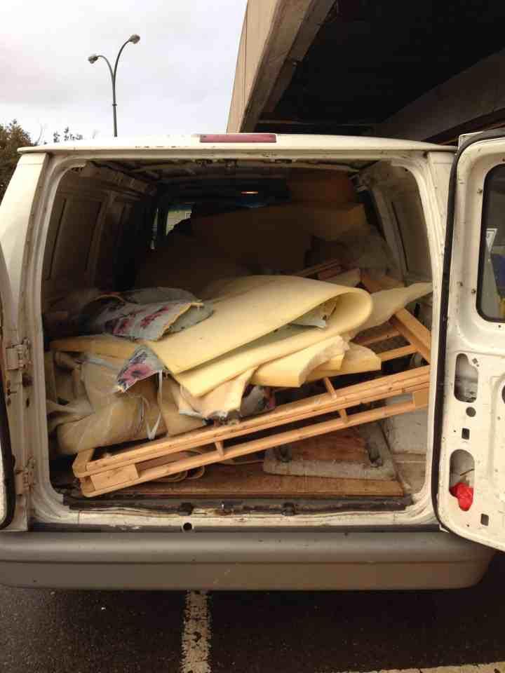 Dresser, bed, mattress removal