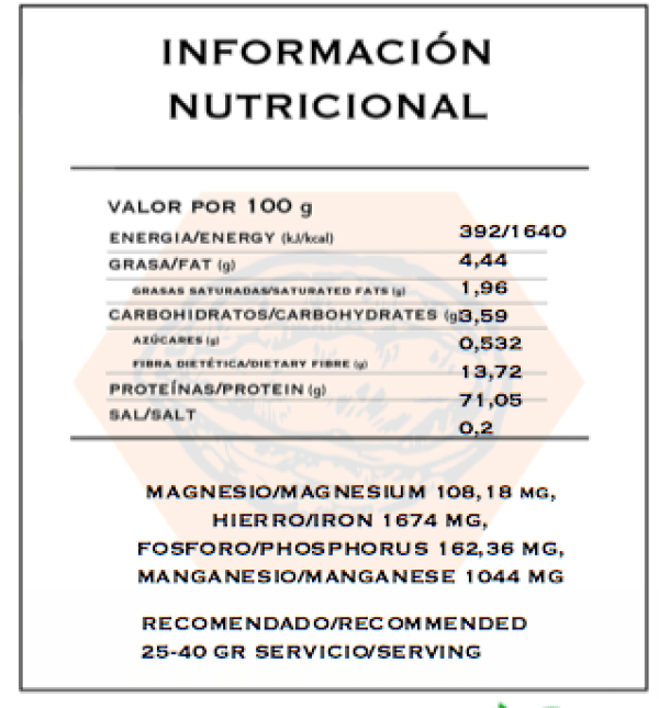 Choco Rice Protein Nutritional information