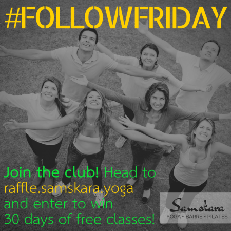 Samskara yoga dulles sterling #followfriday raffle