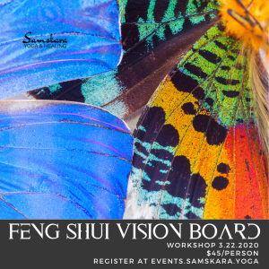 Feng Shui Vision Board Workshop at Samskara Yoga & Healing ashburn sterling dulles herndon chantilly leesburg